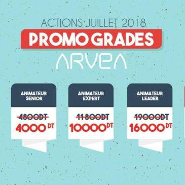 Action juillet Promotion Grade