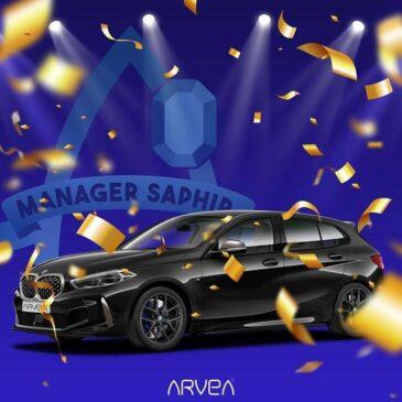 Remise de la BMW au premier manager Saphir Arvea