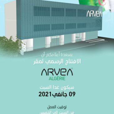 L'ouverture Officielle Du Siège Arvea Algérie !!