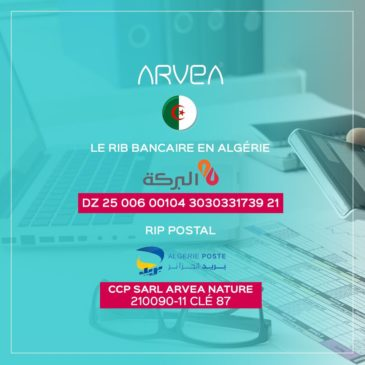Paiement commandes Arvea Algérie par versement ou virement !!