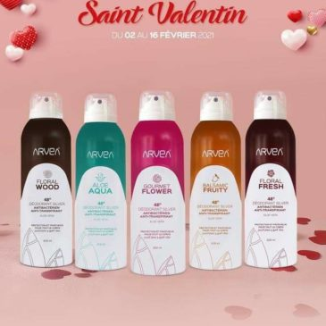 Déodorant Arvea en Promo Saint Valentin !!