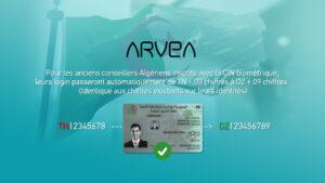 identifiant Arvea Algérie