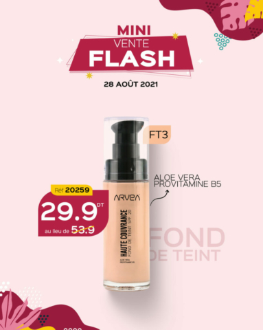 mini vente flash août arvea tunisie