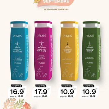 Le shampoing en promo septembre Avea Tunisie !!